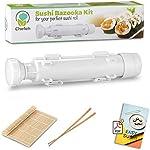 Chefoh All-In-One Sushi Making Kit | Sushi Bazooka, Sushi Mat &