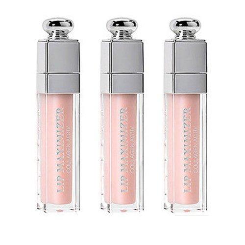 3pcs Dior Addict Lip Maximizer Collagen Activ High Volume Plumper Gloss