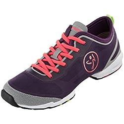 Zumba Women's Flex II Dance Shoe, Purple, 9 M US