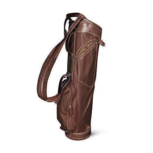 Sun Mountain 2018 Leather Collection Sunday Golf Bag - Brown-Khaki