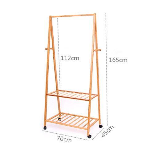 3 In 1 Bamboo Coat And Shoe Rack, Clothes Hanging Rail ,