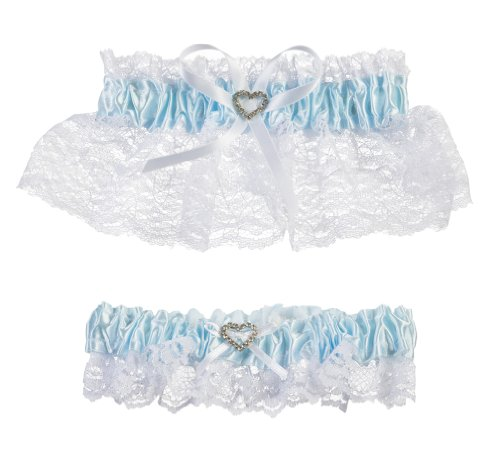 (Darice V35921 Throw Away and Keep One Garter, Blue/White, 2 Per Pack)