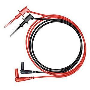 Pomona 6244-48-2 Minigrabber Test Clip To Right Angle Dmm Plug, Red, 48 (Pomona Minigrabber Test Clip)