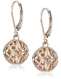 Sterling Silver Filigree Ball Dangle Earrings