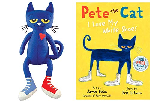 Pete The Cat Bundle with 14.5 Plush Doll and Pete The Cat I Love My White Shoes Hardback Book (Pete) from Generic