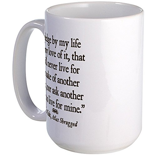 CafePress - Galt Pledge Large Mug - Coffee Mug, Large 15 oz. White Coffee (Atlas Mug)