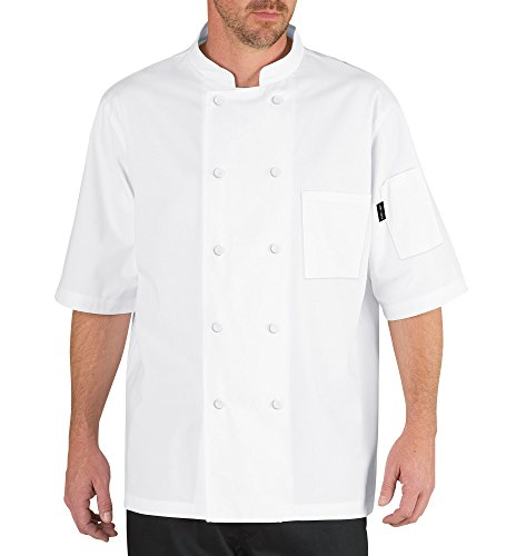 Chef Code Cool Breeze Chef Coat with Short-Sleeves and Mesh Vent Inlay CC105