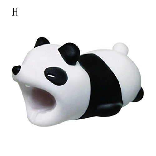 KFSO Cable Bite For Iphone X/8/8 plus/7/7 plus/6/6s/6s plus/5/5c/Samsung Galaxy s9/s8/s7, Cable Cord Protector Phone Accessory Cute Animal (Panda) -