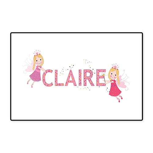 Claire Bath Mats for Floors Pastel Toned Colorful Arrangement of Fairy Tale Elements with Magic Wands and Wings Customize Door mats for Home Mat 24