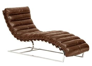 Amazon.com: Oviedo Leather chaise – Vintage Cigar: Kitchen ...