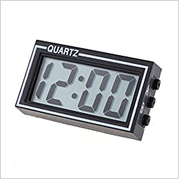 Demiawaking - Mini reloj digital LCD para salpicadero de automóvil, fecha, hora, calendario, reloj, negro: Amazon.es: Libros