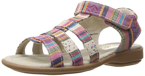 See Kai Run Girls' Fe Sandal, Multi Stripe, 8 M US Toddler