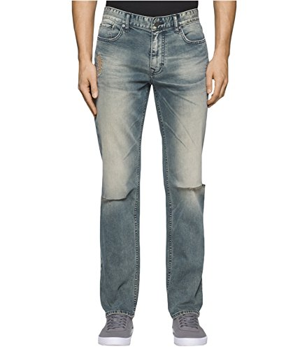 (Calvin Klein Men's Slim Straight, Fatigue Tinted, 34W x)