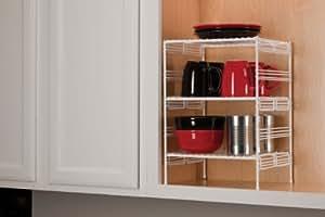 Grayline  Medium Kitchen Helper Shelf White