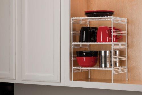 Grayline 40911, Medium Adjustable Upper Cabinet Helper Shelf, White by Grayline