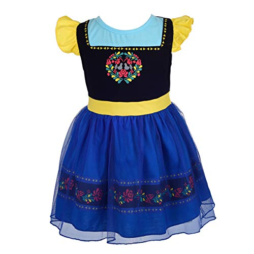 Dressy Daisy Princess Anna Dress for Toddler Girls Halloween Fancy Party Costume Dress Size 3T 144 -