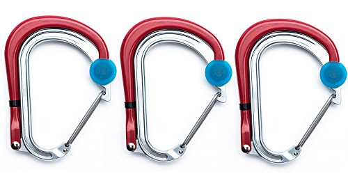 The Qlipter Carabiner & Hook (3 Pack Fire & Ice)