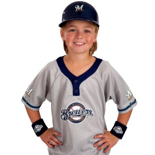 Franklin Sports MLB Milwaukee Brewers Youth Team Uniform - 7 Brewers