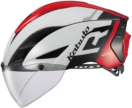OGK KABUTO(オージーケーカブト) ヘルメット AERO-R1 ホワイトレッド S/M