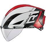 OGK KABUTO(オージーケーカブト) ヘルメット AERO-R1 ホワイトレッド S/M (頭囲:55cm-58cm)