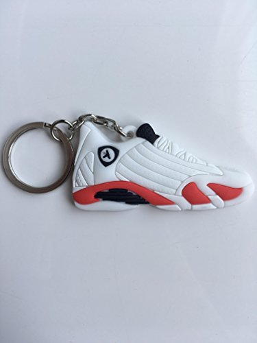 82b376d8ce935b Jordan Retro 14 Candy Cane Sneaker Keychain Shoes Keyring AJ 23 OG