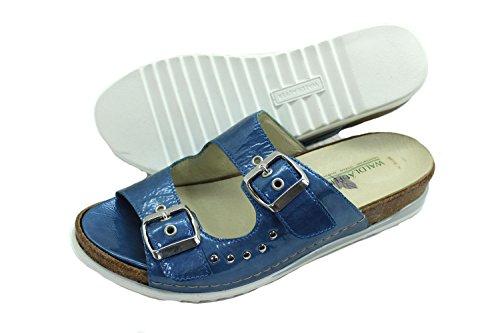 Waldläufer Damen Leder Schuh Sommer Sandalette blau 4,5 / 37 Weite H