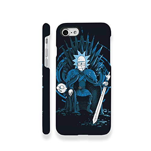 Sword Throne King iPhone X XS Plastic Case Old Man Adventures Fantasy iPhone Compatible With Apple iPhone X XS Blue Full Wrap Plastic Cover Cell Phone Case - Wrap Fantasy