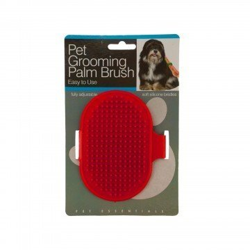 Dog Brush Shorthair (Goodhouse Pet Grooming Palm Brush with Adjustable Loop Handle for Dogs and Cats Red)