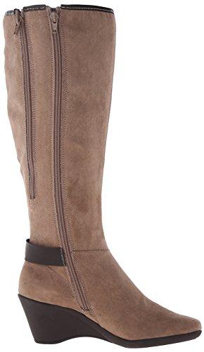 Boot Women's Wonderful Aerosoles Taupe Fabric Riding vZtdw
