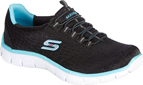 Skechers Sport Women's Empire Rock Around Fashion Sneaker, 9.5 B(M) US, Black Fabric/Synthetic