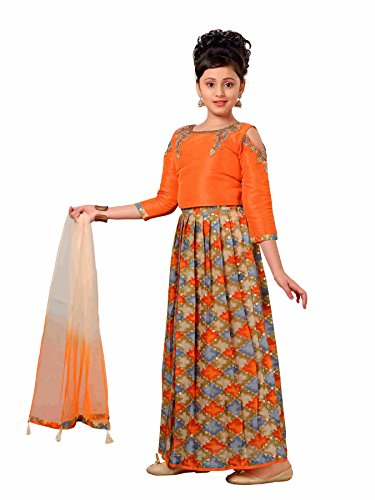 Fille Robe 4 3 Adiva Orange Manches R8xxw