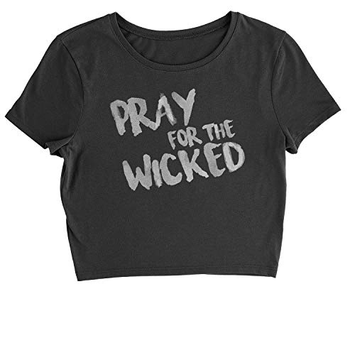 Motivated Culture Cropped Pray for The Wicked T-Shirt Large Black