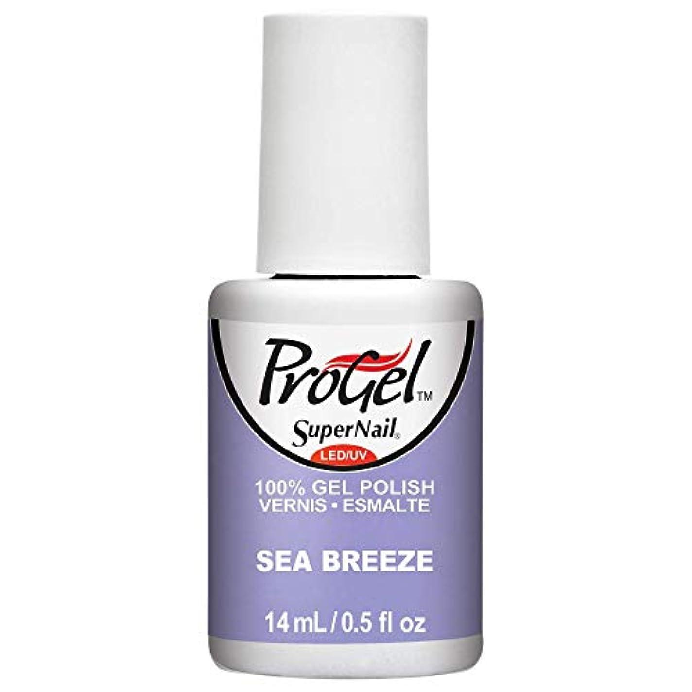 介入する絶望的な対応SuperNail ProGel Gel Polish - Sea Breeze - 0.5oz / 14ml