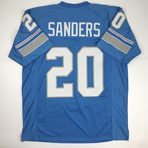 Unsigned Barry Sanders Detroit Blue Custom Stitched Football Jersey Size XL New No Brands/Logos -