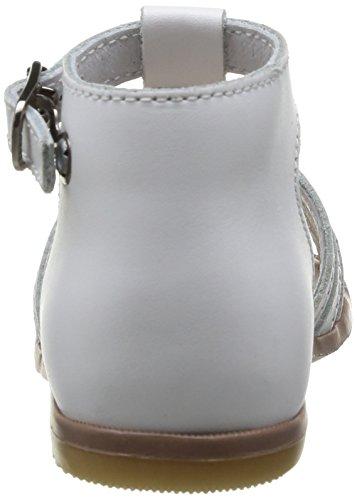 Little Mary Hosmose - Zapatos de primeros pasos Bebé-Niñas Blanco - Blanc (Perlado Blanc)