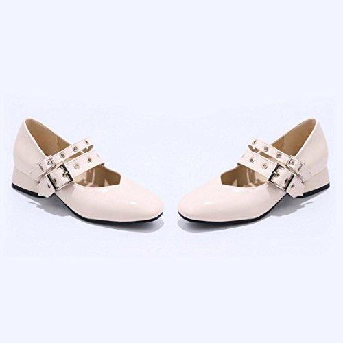 Coolcept Zapatos de Tacon Bajo para Mujer Beige