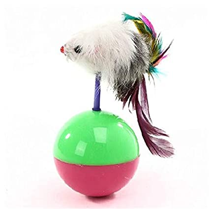 Amazon.com : HBK Cats Toy Tumbler Mouse Feather Pets Interactive Products Kitten Play Pets Shop Game Gatos Fun Cats Toy Cute Durable DDMYXX6 : Pet Supplies