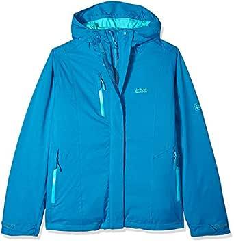 Jack Wolfskin Women's Troposphere Waterproof Hybrid Down-Fiber Insulated Jacket, Celestial Blue, Small