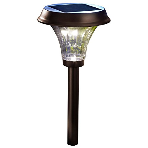 Moonrays Richmond-Style Premium Output Solar Powered Metal LED Path Light