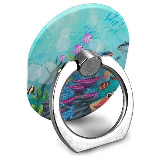 Zeajant Unique Mobile Phone Holder Finger Ring Stand Ocean Sea Aquatic World Coral Fish Animals Cell Phone Ring Holder Grip Universal Smartphone for iPhone 6S 6 6S Plus 6 Plus