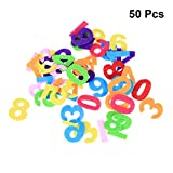 Healifty Felt Numbers Fabric Toy for DIY Craft Kids Christmas Birthday Party Decor 50pcs (Mixed Color and Letters)