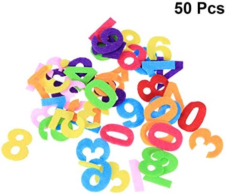 Healifty Felt Numbers Fabric Toy for DIY Craft Kids Christmas Birthday Party Decor 50pcs (Mixed Color and Letters) / Healifty Felt Numbers Fabric Toy for DIY Craft Kids Christmas Birthday Party Decor 50pcs (Mixed Color and Letters)