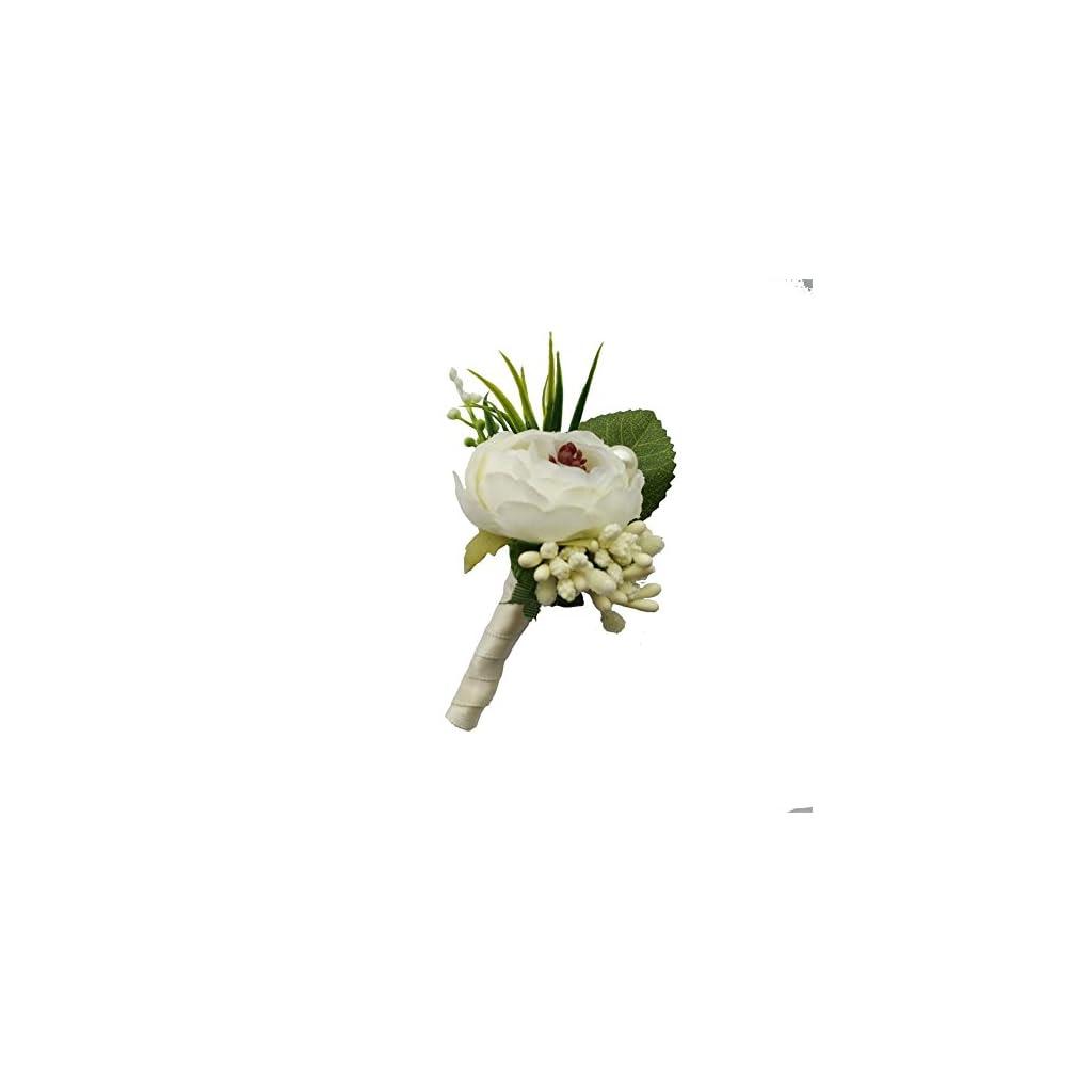 6-Pieceslot-Groom-Boutonniere-Man-Buttonholes-Wedding-Flowers-Party-Decoration