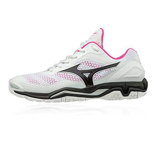Stealth Court Wave AW18 Shoes Mizuno White V Women's 6UxRqFf
