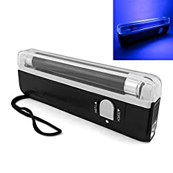 OriGlam Portable Handheld UV Black Light Torch, Blacklight UV Light Money Bill Detector Currency Banknote Checker Cash Security