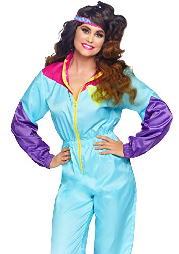 Halloween Costumes Of The 80s (Leg Avenue Women's Awesome 80s Ski Suit Costume, Multi,)
