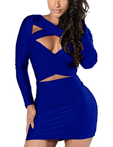 Women's Long Sleeve Cut Out Dress