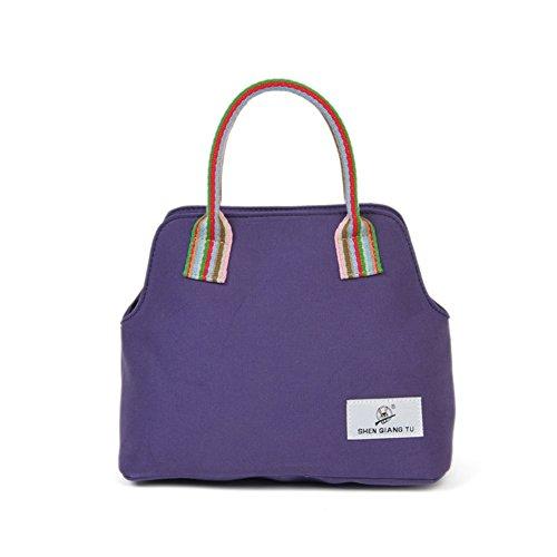 CHB880431C3 Canvas Korean Version Women's Handbag,Vertical Section Square Small Square - Korean With Horse Logo Brand Bag
