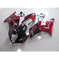 USA Candy Red w/Black Fairing Injection for 2003-2004 Suzuki GSXR GSX-R 1000