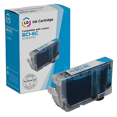 LD Compatible Ink Cartridge Replacement for Canon BCI6C 4706A003 - Cyan 6c Cartridge Bci